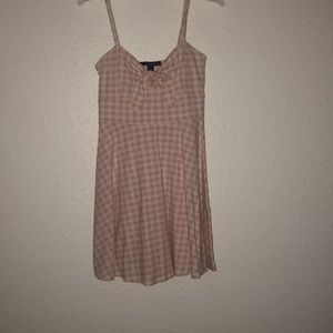 Pink Gingham dress, never worn, NWOT